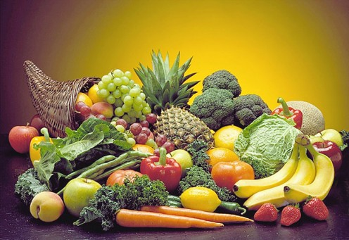 Fruit and veg, good for you inside and out.