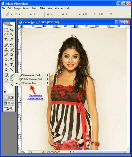 Photoshop measure tool location