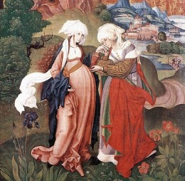 The Visitation, by Master MS, 1506 (detail)