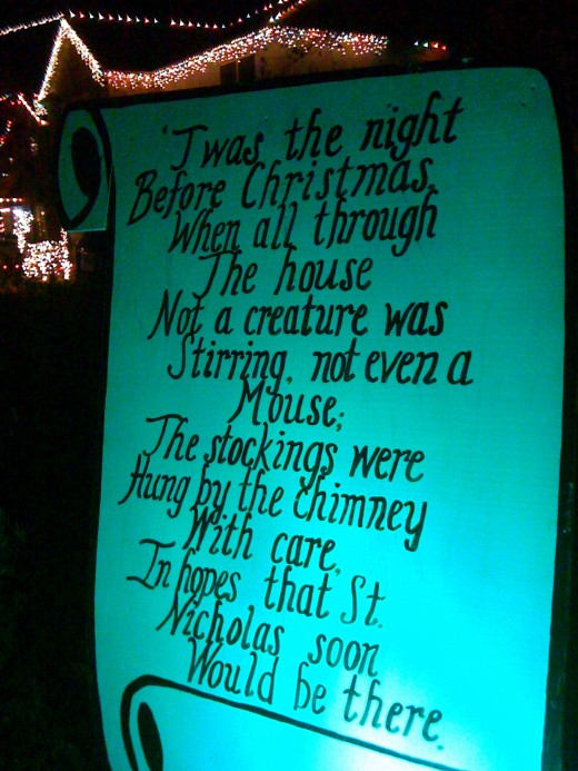 Twas the night before Christmas and..... Read the story as you walk the street.