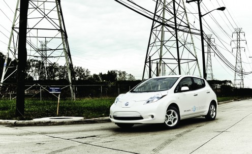 Grid-connected 2011 Nissan LEAF