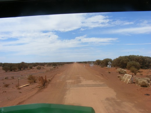 Heading 100 k's out  Bandya Station Road East of Laverton W.A.