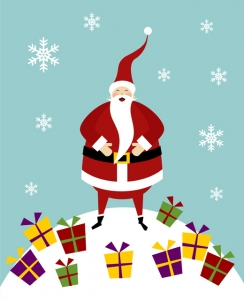 santa claus as the symbol of gift giving - How Many People Celebrate Christmas