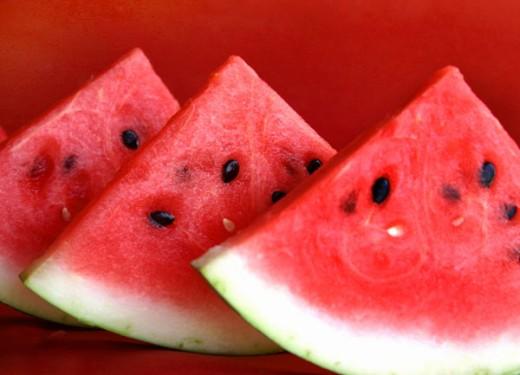 Watermelon slice for health