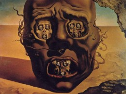 The Face of War, by Salvador Dali.  This painting inspired Mandelbrot, with its self-similarity of faces within faces, to infinity.