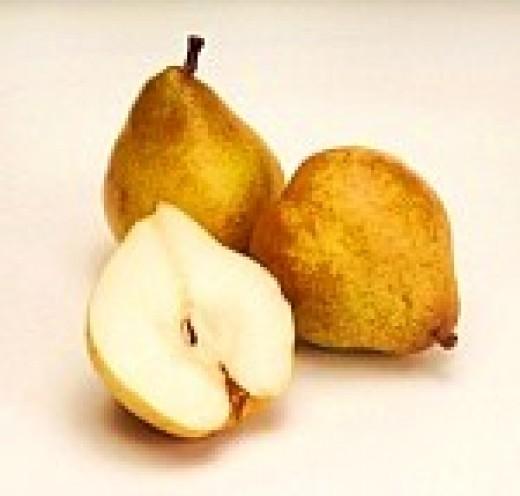 Golden dessert pears.