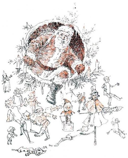 """The Goblins' Christmas - from the book """"The Goblins' Christmas by Elizabeth Anderson, copyright 1908."""