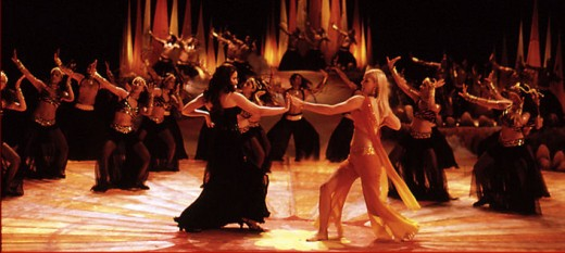 "Dance scene from the movie ""Marigold"".  Ali Larter, who starred as Marigold Lexton, is on the right in front."