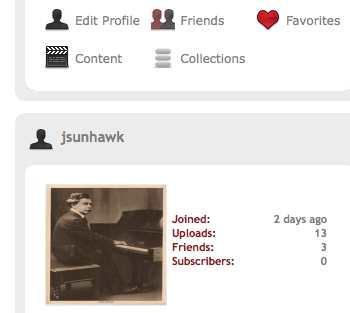 profile box in RedGage