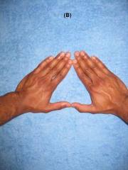 Proper hand position for triangle push ups