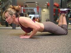 If a full push up position is too difficult, these can be performed from the knees.