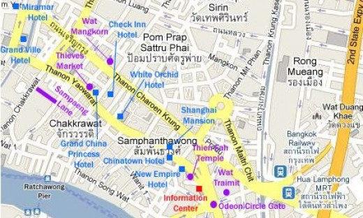Bangkok Chinatown Map