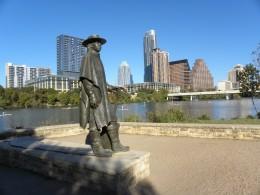 Stevie Ray Vaughan Statue Lady Bird Lake Austin TX