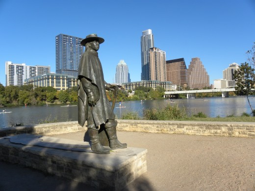 Stevie Ray Vaughan Statue Lady Bird Lake Austin TX