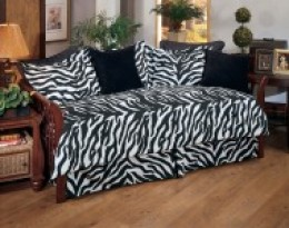 Black & White Zebra Daybed Bedding