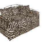Brown & Creme Zebra Daybed Bedding