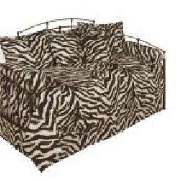 Brown & Creme Zebra Daybed Bedding