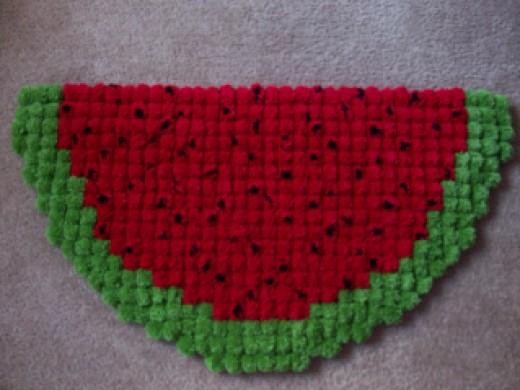 Watermelon Pom Pom Rug