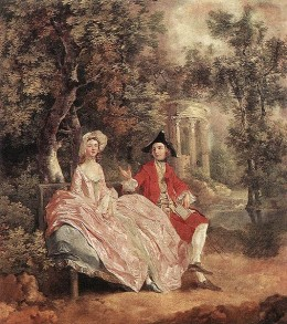 """Conversation in a Park"" (1745) by Thomas Gainsborough."