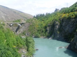 Beautiful location for a bungy jump (note: this is a nearby bridge)
