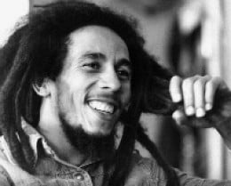 Robert Nesta Marley   Jamaican singer, guitarist and composer, the King of Reggae, (1945-1981)