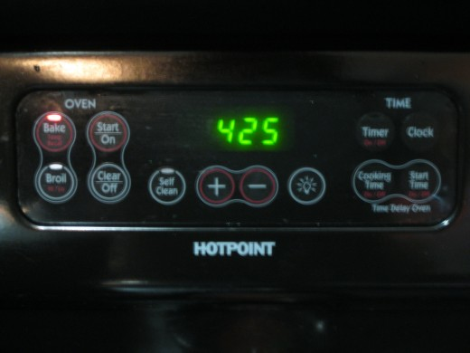 Step 2:  Pre-heat your oven to 425 degrees