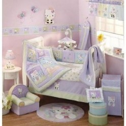 Hello Kitty Crib Set