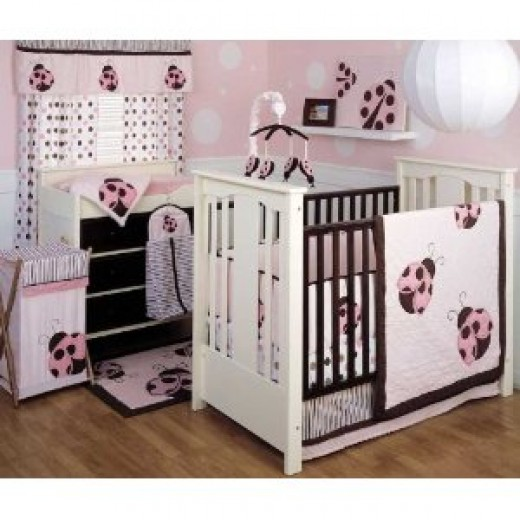 Ladybug crib set