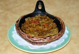 Unripe plantain stew