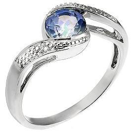 Blue Mystic Topaz Ring
