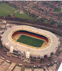 The famous twin towers of the Old Wembley