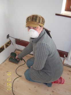 Christmas Decorating...not Decorations, decorating the walls and sanding the floor?