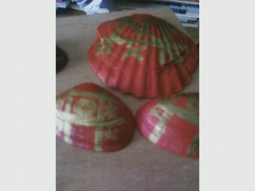 Red sea shells Tic Tac Toe