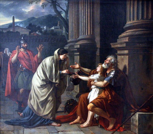 """Alms for the Poor"" by Jacques-Louis David (1878) at the Lille Palace of Fine Arts - France"