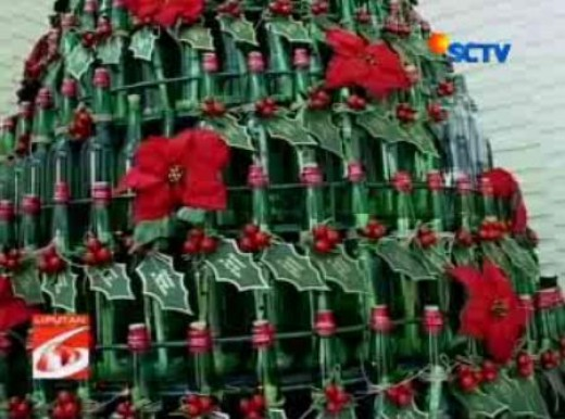 Bottles Christmas tree Courtesy : SCTV
