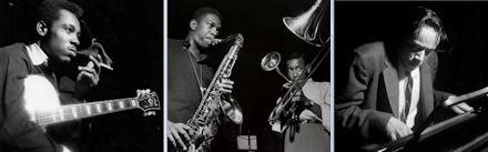 L-R: George Benson, John Coltrane, Lee Morgan, Horace Silver.