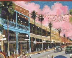 An Illustration of 7th Ave in Ybor City, showing how it looked in the 50s.  This is more how it looks today, as well.