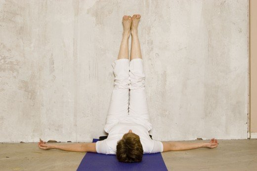I can't sleep:  legs up the Wall (Viparita Karani) is a modified shoulder stand. Put a rolled blanket or bolster under hips if it feels good for you.  Do it before bed to fall asleep easily and sleep better.