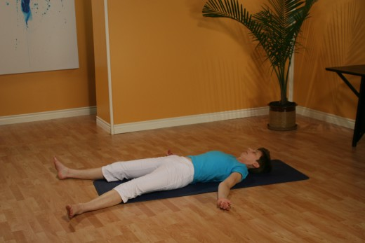 One of the best-loved meditation techniques:  rest in savasana for five minutes with your eyes closed, and feel your body breathe.