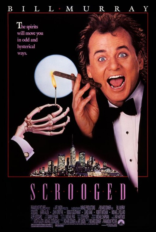 Scrooged movie poster, courtesy of impawards.com