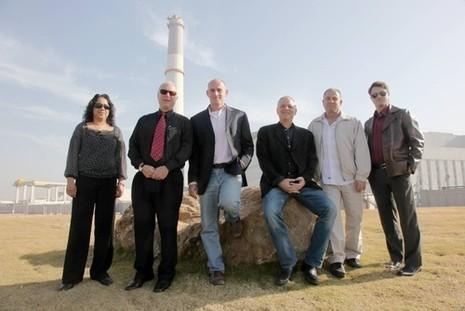 The company SEMG. Left: Ido Greenberg, Amir Drori, Nizan Janowski, Eric Koppelman, Asher Sadan, and Elizabeth Yehuda