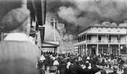 The Great Fire in Ybor City, Tampa.