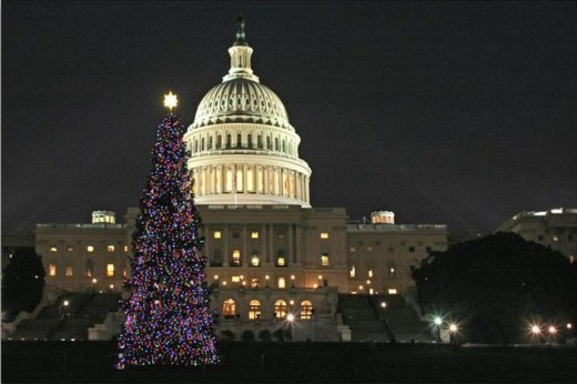 Christmas in the nation's capitol, Washington DC.