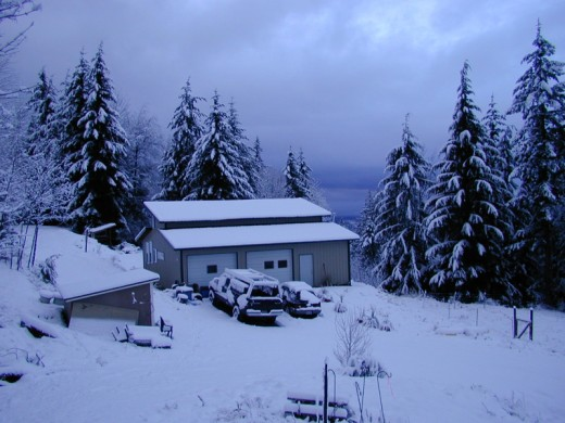 Off Grid Living: Winter Snow Means Wood Stove Heat