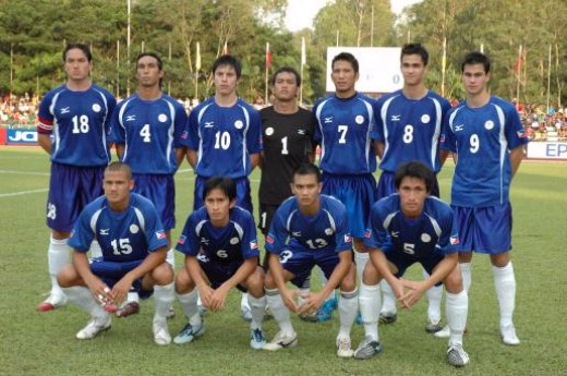 The Philippine national team which is also called the Azkals dons their away uniforms.