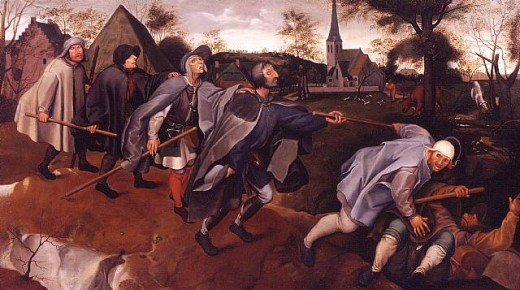 The Parable of the Blind Leading the Blind by Pieter Bruegel the Elder.