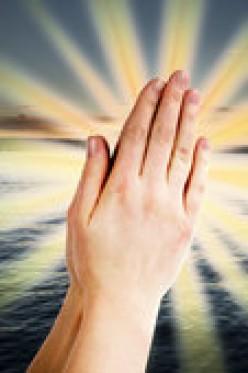 Prays for man