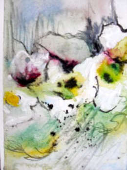 Cyclamen, pen,ink & watercolour