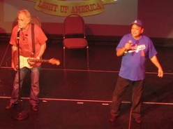 Cheech and Chong onstage in 2008