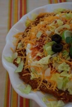7 Layer Dip or Taco Dip is a Tailgate Essential